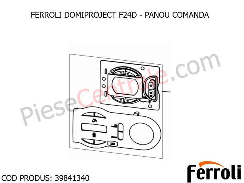 Panou comanda centrala termica ferroli domiproject f24d for Ferroli f24d