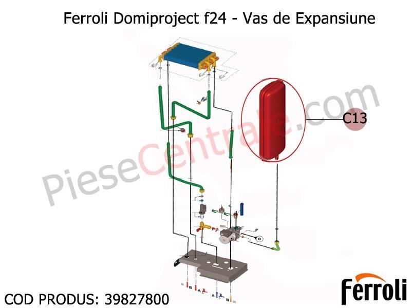 Poza Vas expansiune centrale termice Ferroli Domiproject F24D, Fereasy 24 kw