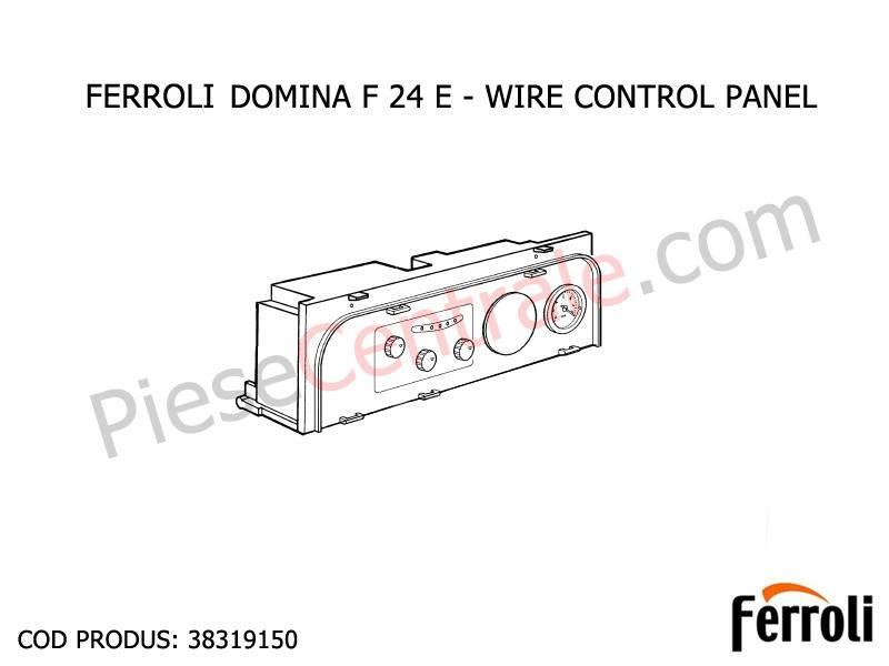 Poza Panou frontal centrala termica Ferroli Domina