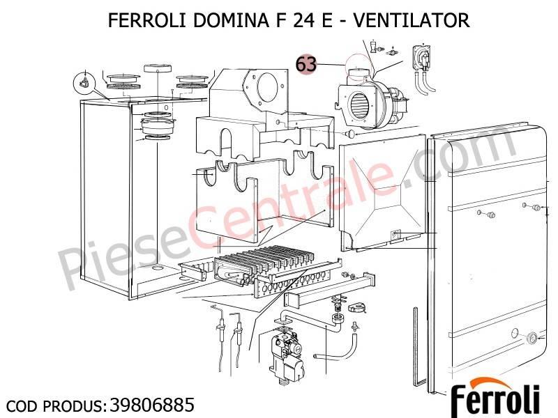 Poza Ventilator centrala termica Ferroli Domina