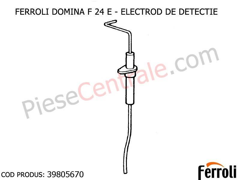 Poza Electrod detectie centrale termice Ferroli Domina si New Elite