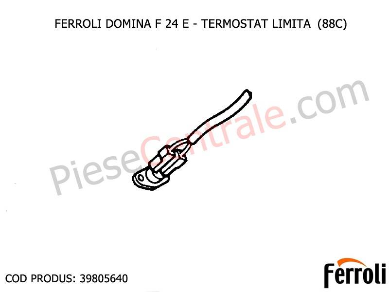 Poza Termostat limita (88c) centrale termice Ferroli Domina
