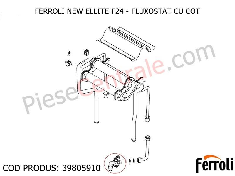 Poza Fluxostat cu cot centrale termice Ferroli Domina, New Elite F 24, Econcept