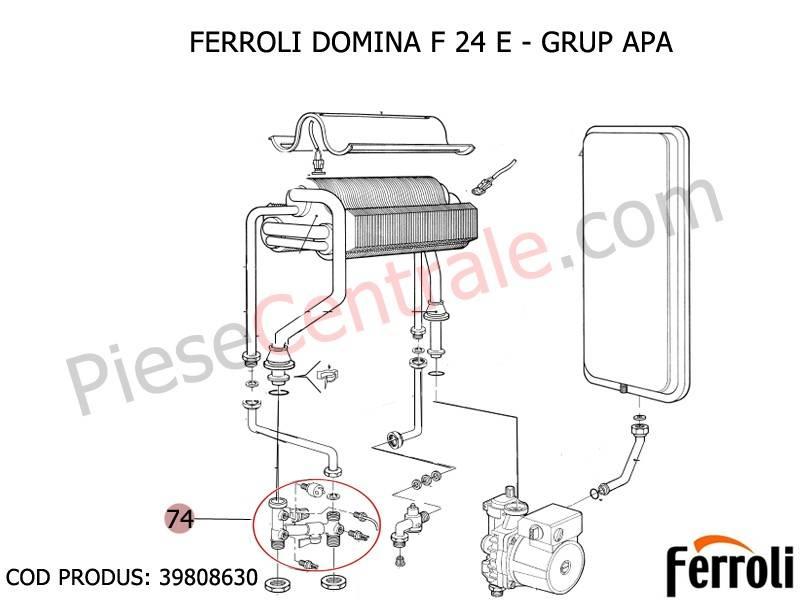Poza Grup apa centrale termice Ferroli Domina