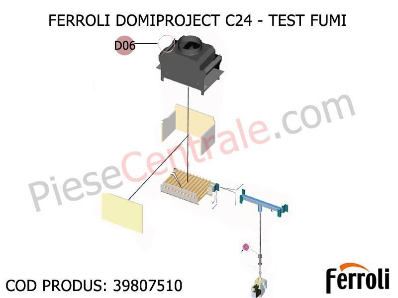 Poza Termostat fum centrala termica Ferroli Domiproject C 24