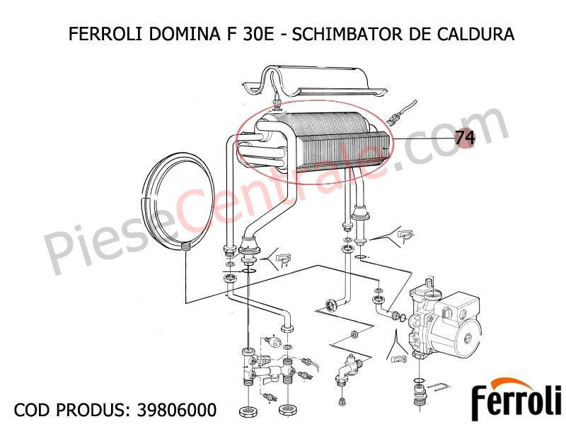 Poza Schimbator de caldura centrala termica Ferroli Domina F 30 E 30 kw
