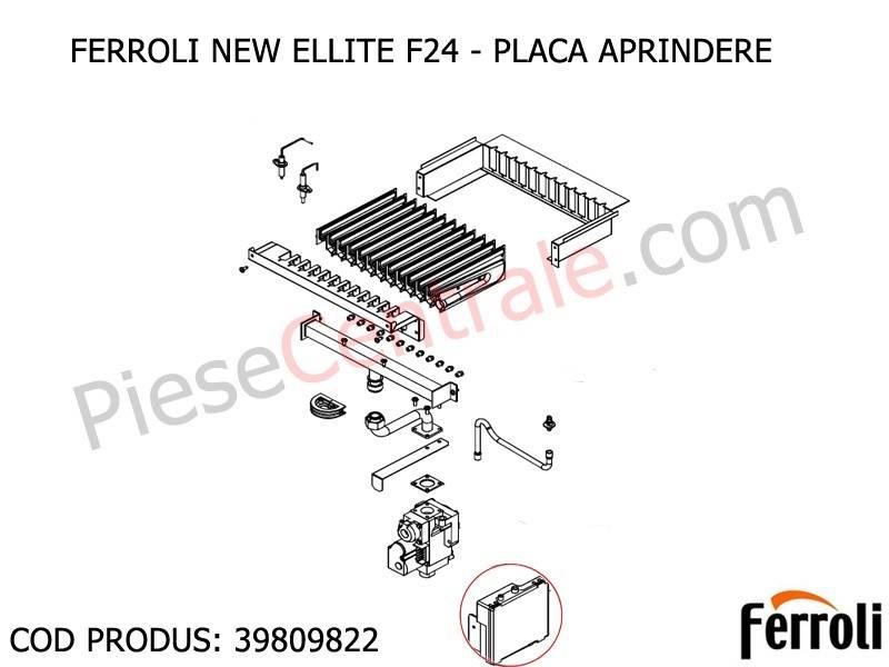 Poza Placa aprindere centrala termica Ferroli New Elite F 24