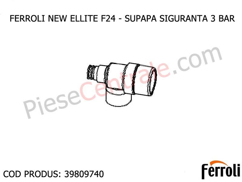 Poza Supapa siguranta 3 bari pentru centrale termice Ferroli New Elite si Domicompact B