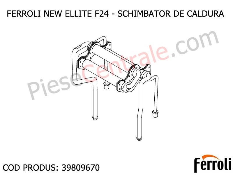 Poza Schimbator de caldura centrala termica Ferroli New Elite F 24