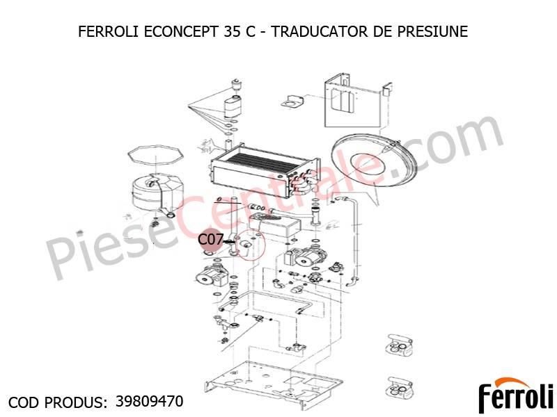 Poza Traducator presiune centrale termice Ferroli Econcept, New Elite