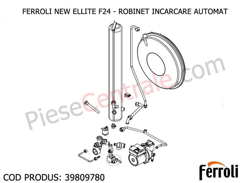 Poza Robinet incarcare automat centrala termica Ferroli New Elite F 24