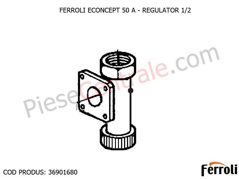 Poza Regulator 1/2 pentru centrala Ferroli Econcept 50 A