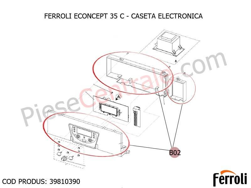 Poza Caseta electronica centrala termica Ferroli Econcept