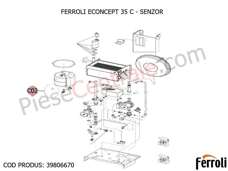 Poza Sonda temperatura centrala termica Ferroli Econcept