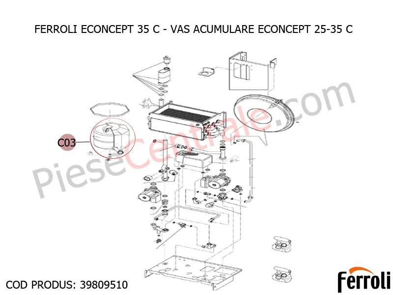 Poza Vas acumulare ECONCEPT 25-35 C centrala termica Ferroli Econcept