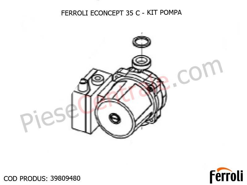 Poza Kit pompa centrala termica Ferroli Econcept