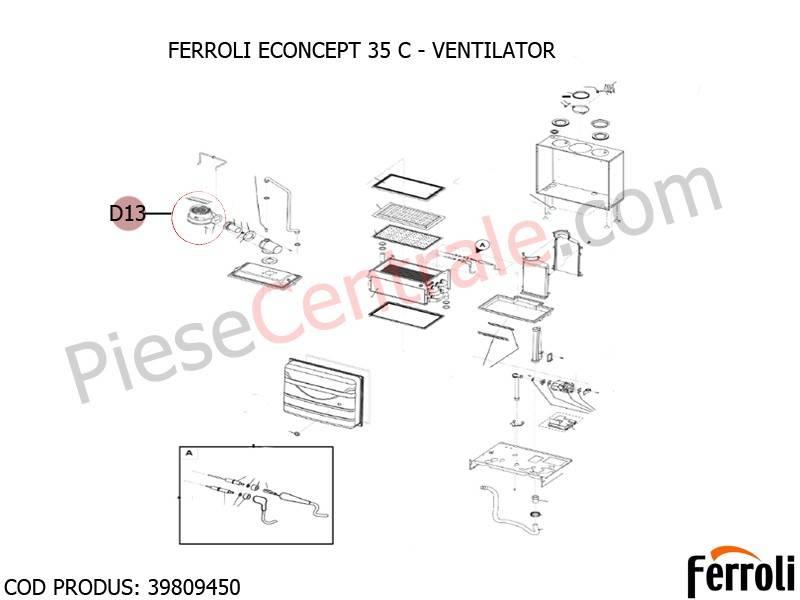 Poza Ventilator centrala termica Ferroli Econcept
