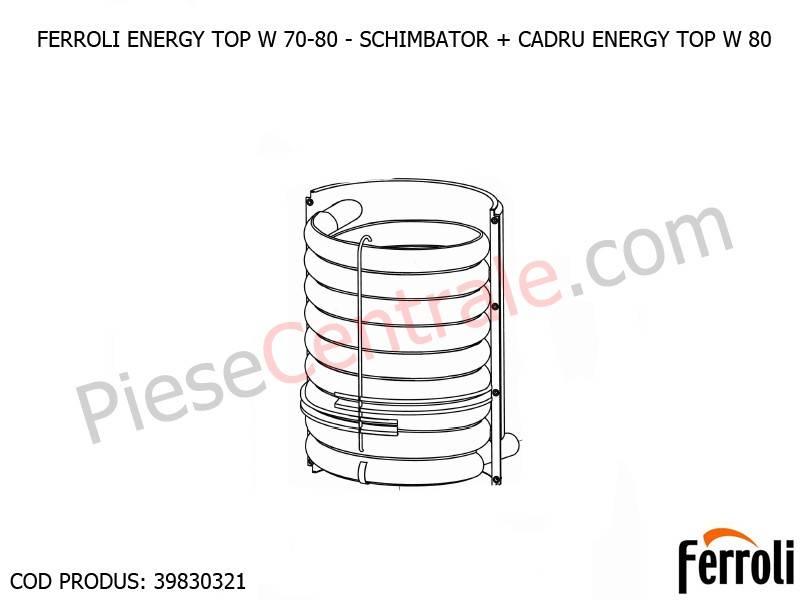 Poza Schimbator de caldura plus cadru centrale termice Ferroli Energy Top W 70-80