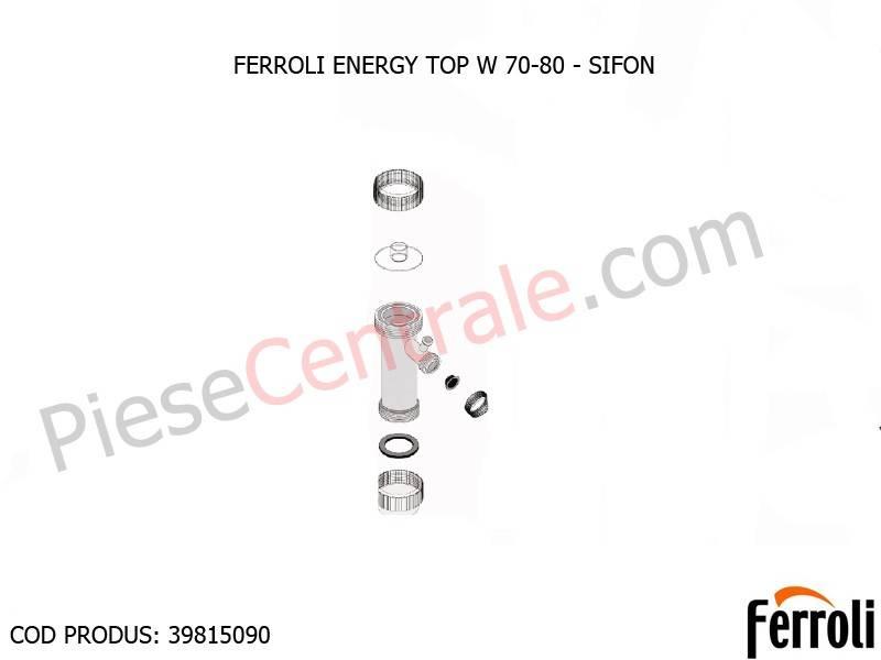 Poza Sifon condens centrale termice Ferroli Energy Top W 70-80