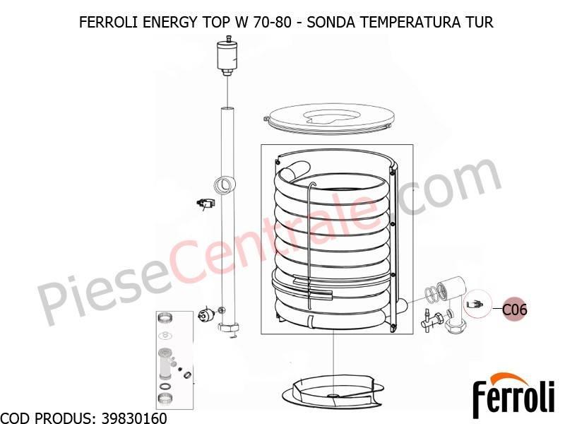 Poza Sonda temperatura tur centrale termice Ferroli Energy Top W 70-80