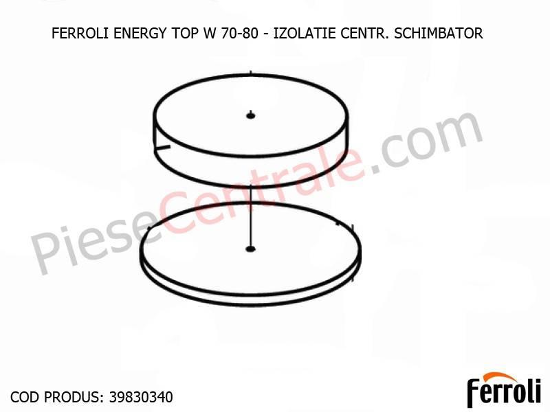 Poza  Izolatie Centr Schimbator centrale termice Ferroli Energy Top W 70-80