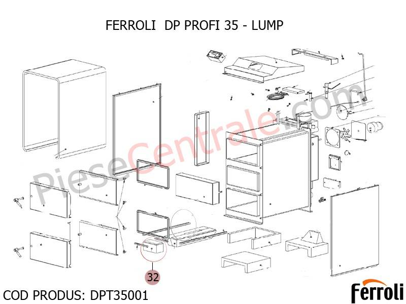Poza Lump centrala pe lemne Ferroli DP 35 Profi