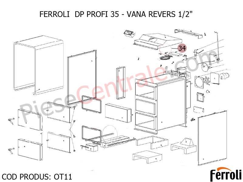 Poza VANA REVERS 1/2 pentru centrala pe lemne Ferroli DP