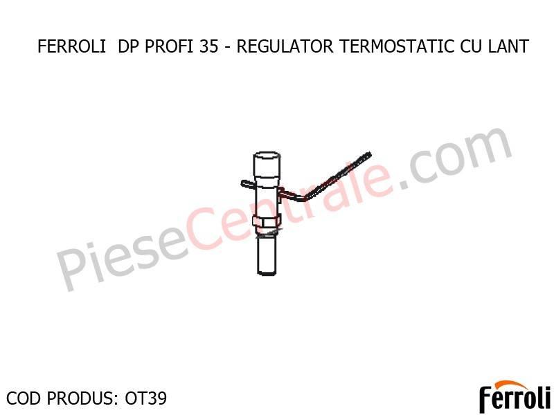 Poza Regulator termostatic cu lant pentru centrala pe lemne Ferroli DP