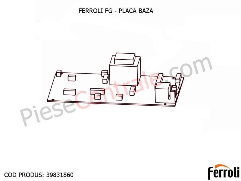 Poza Placa baza pentru centrala pe lemne Ferroli FG