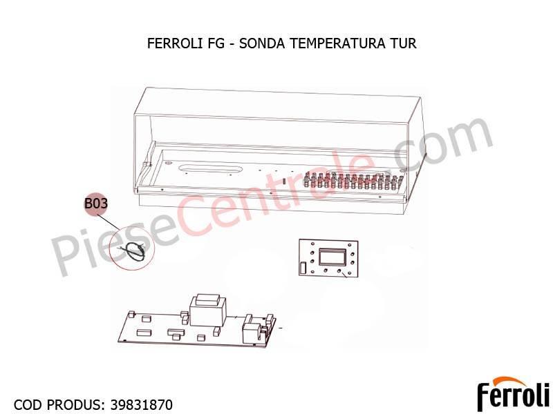 Poza Sonda temperatura tur pentru centrala pe lemne Ferroli FG