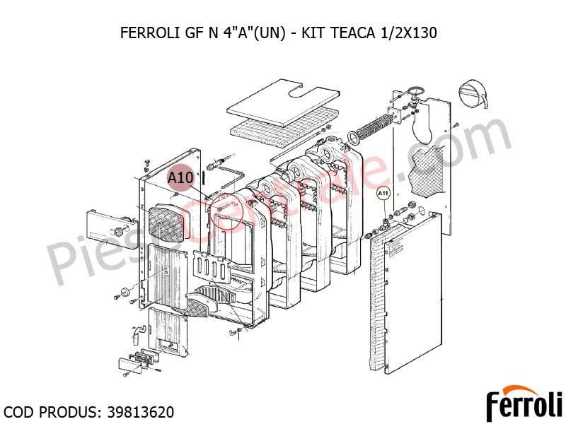 Poza Kit teaca pentru centrala pe lemne Ferroli FG, GF N