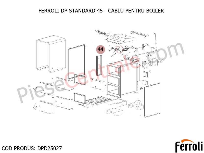 Poza Cablu pentru boiler centrala pe lemne Ferroli DP Standard