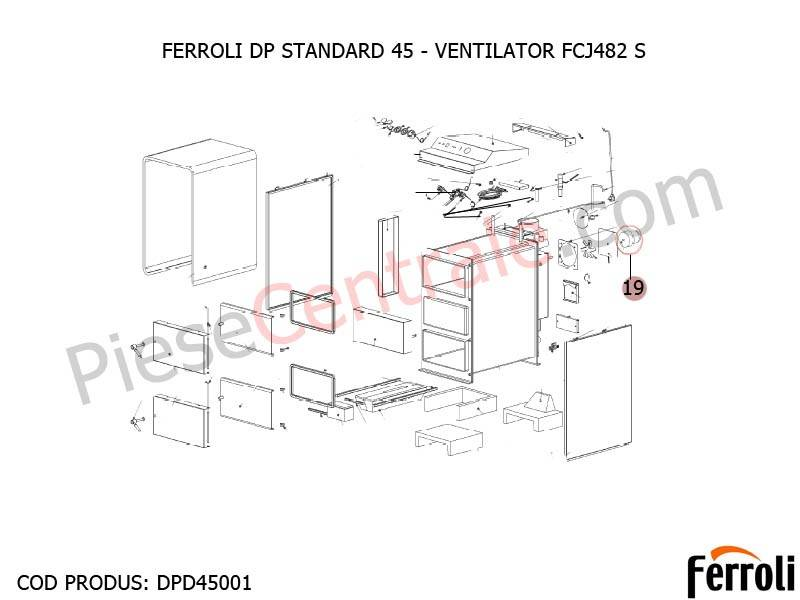 Poza Ventilator centrala pe lemne Ferroli DP Standard