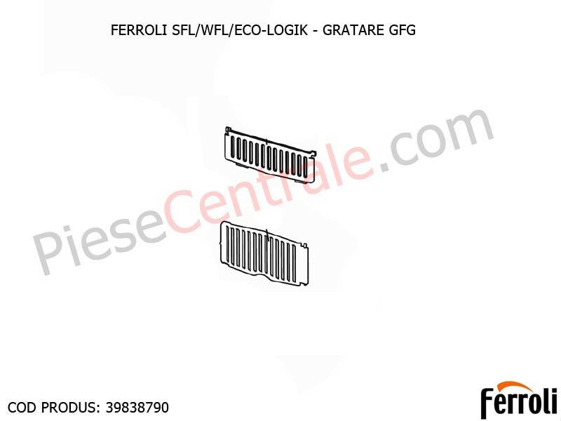 Poza Gratare centrale pe lemne Ferroli SFL, WFL, ECO LOGIC
