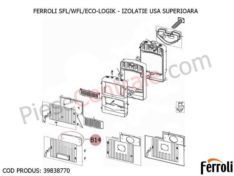 Poza Izolatie usa superioara centrale pe lemne Ferroli SFL, WFL, ECO LOGIC