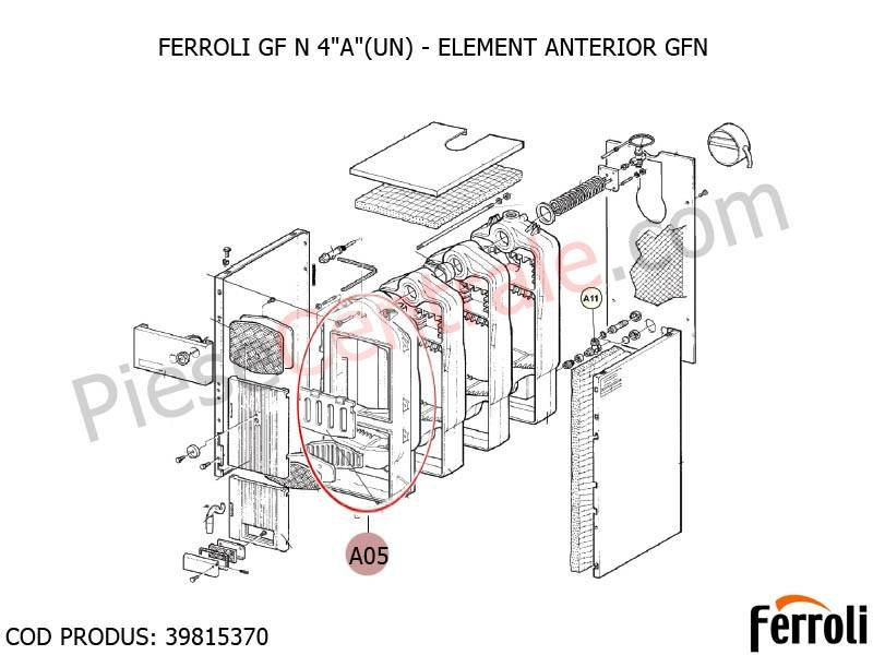 Poza Element anterior centrala pe lemne Ferroli GF N