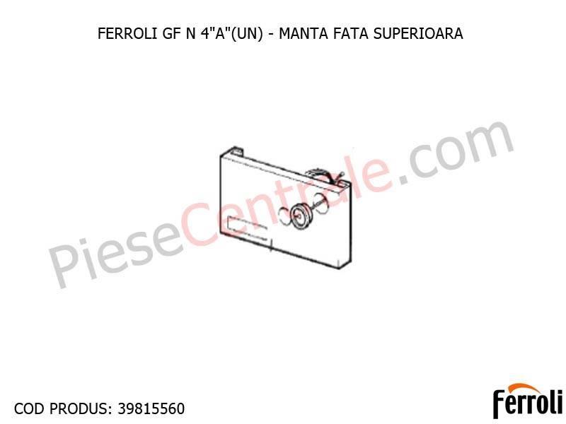 Poza Manta fata superioara centrala pe lemne Ferroli GF N