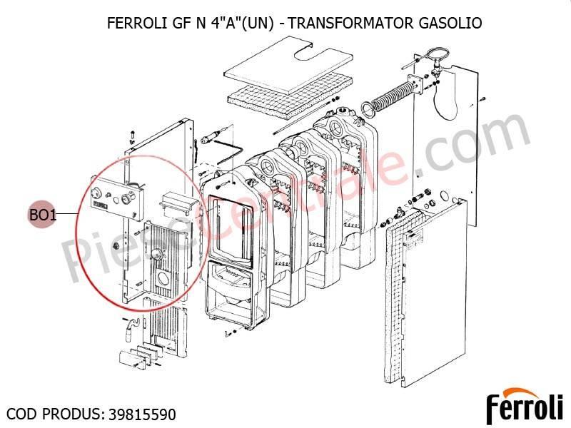 Poza Transformator centrala pe lemne Ferroli GF N