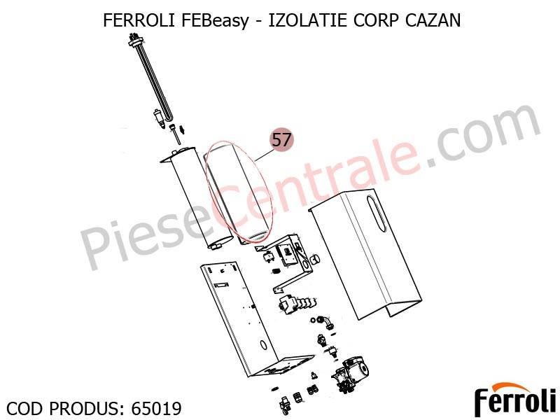 Poza Izolatie corp centrala electrica Ferroli Febeasy 08