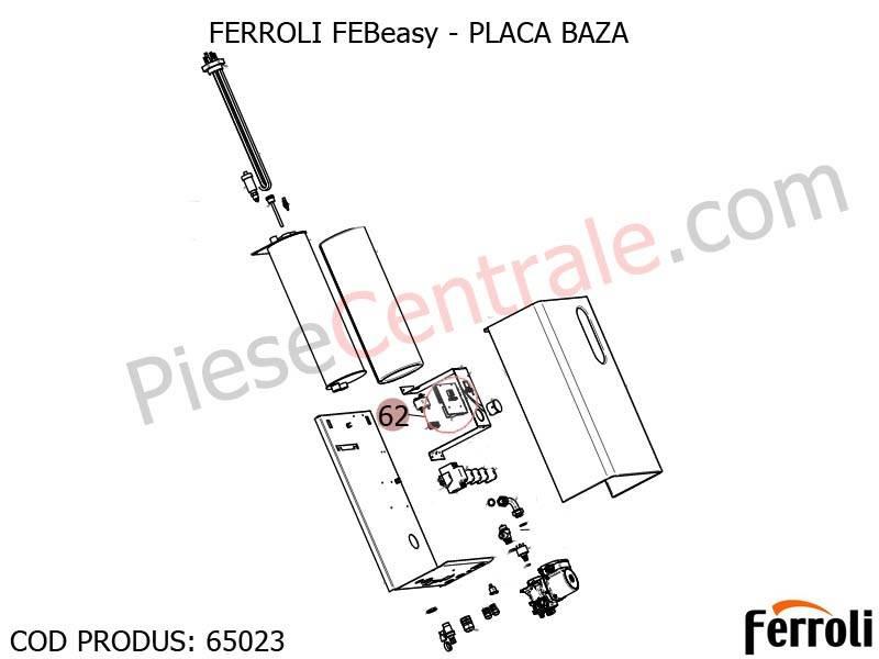 Poza Placa baza centrala electrica Ferroli Febeasy 08