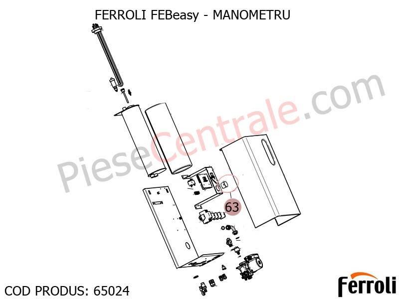 Poza Manometru centrala electrica Ferroli Febeasy 08