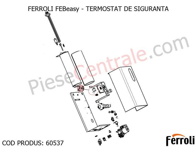 Poza Termostat de siguranta centrala electrica Ferroli Febeasy 08