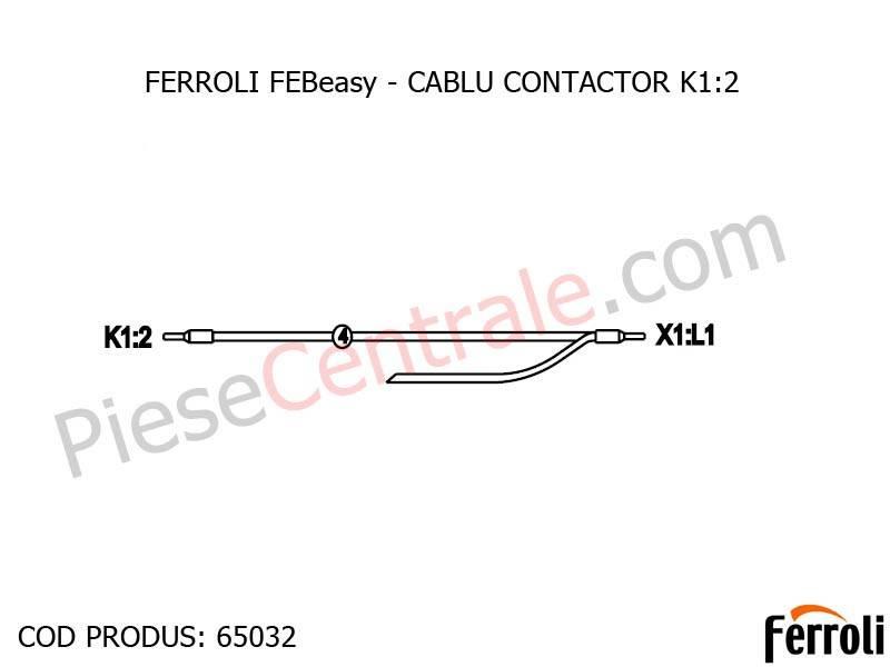 Poza CABLU CONTACTOR K1:2 centrala electrica Ferroli Febeasy 08