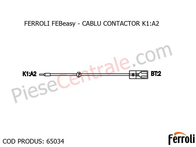Poza CABLU CONTACTOR K1:A2 centrala electrica Ferroli Febeasy 08