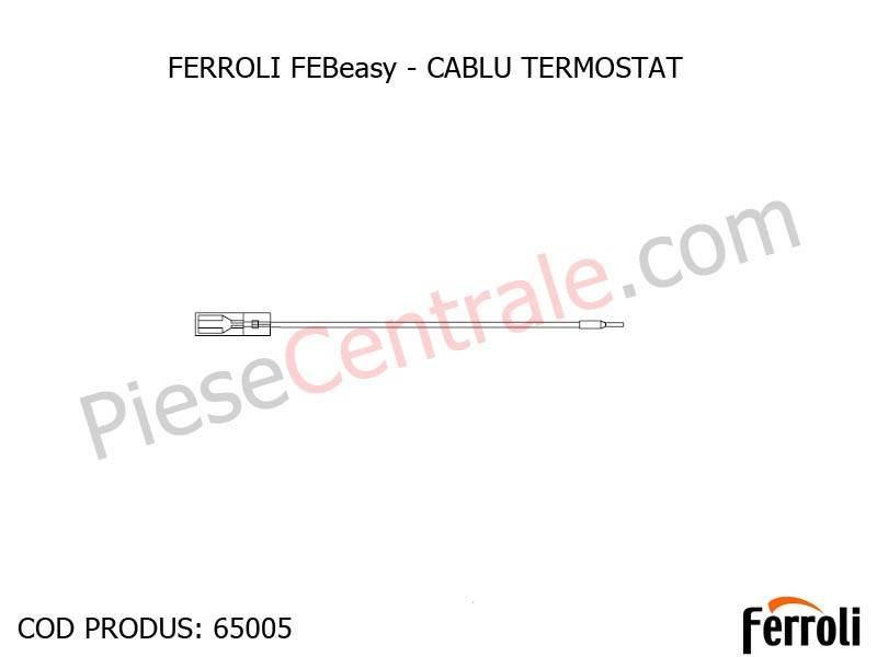 Poza Cablu termostat apa centrala electrica Ferroli Febeasy 08