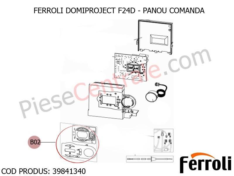 Poza Panou comanda centrala termica Ferroli Domiproject F24D