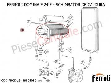 Poza Schimbator caldura Centrale termice Ferroli Domina F24E 24 kw