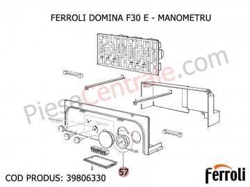 Poza Manometru cu filet pentru centrale termice Ferroli Domina F 30 E si Domicompact F 24 B
