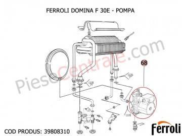 Poza Pompa circulatie centrala termica Ferroli Domina F 30 E 30 kw si New Elite F 24