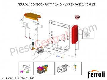 Poza Vas expansiune centrale termice Ferroli Domicompact F 24 D si Domicompact F 24 B